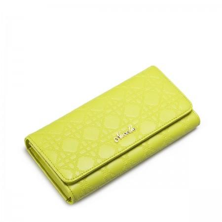 Modna zelena vzorčasta denarnica