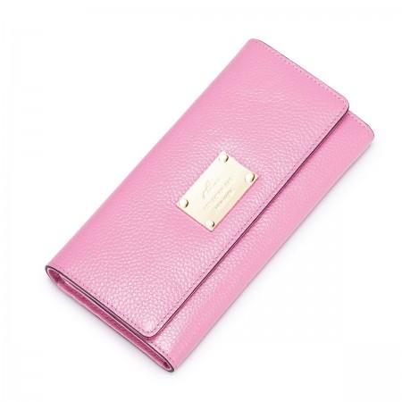 Fensi usnjena denarnica roza