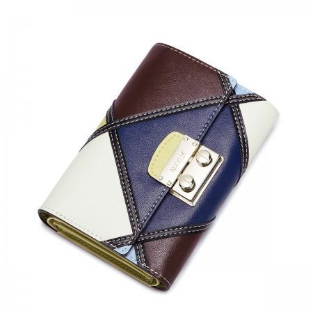 Večbarvna usnjena denarnica mala
