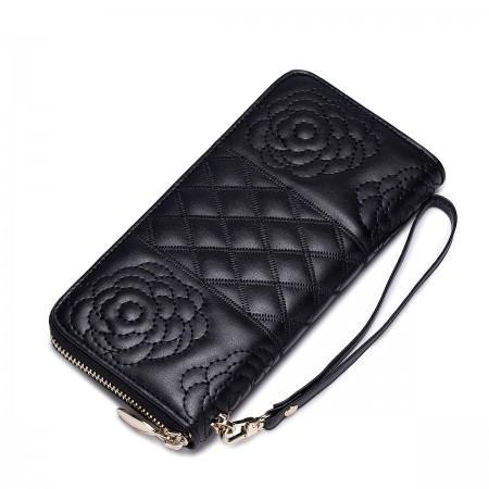 Dizajnerska usnjena denarnica črna
