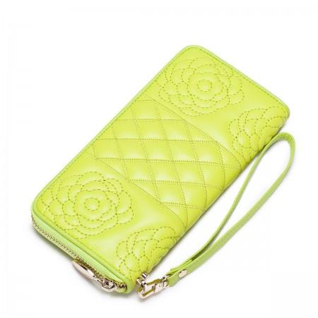 Dizajnerska usnjena denarnica rumena