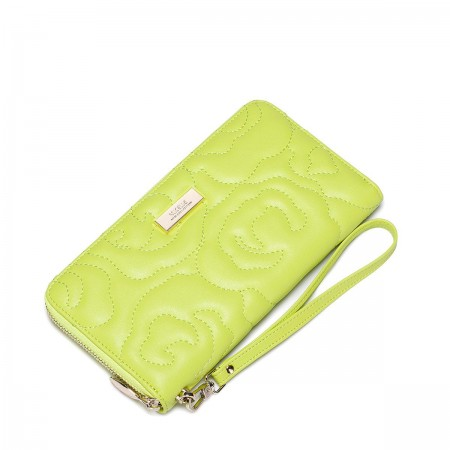 Usnjena denarnica Camellia rumena