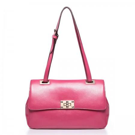 NUCELLE Ženska torbica iz pravega usnja rdeča