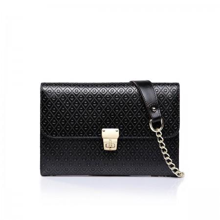 Večernanska usnjena torbica črna 1170399-01