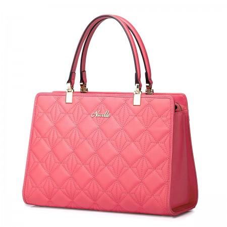 Usnjena elegantna torbica rdeča 1170609-26