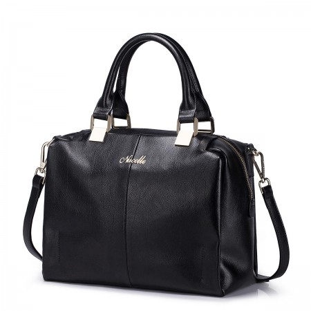 Črna usnjena torbica Ana 1170612-01