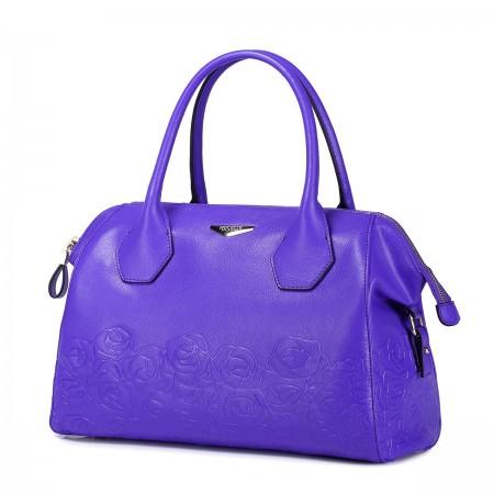 Vijolčna usnjena torbica 1170621-09