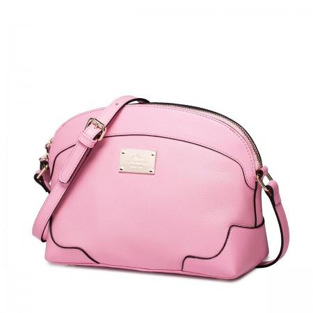Usnjena dekliška roza torbica