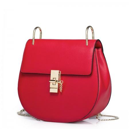 Usnjena torbica Elegance rdeča