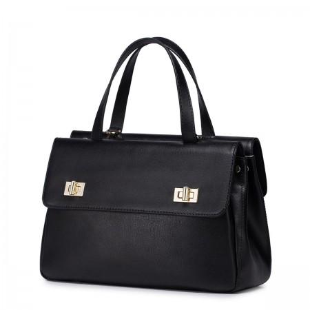 Poslovna usnjena črna torbica