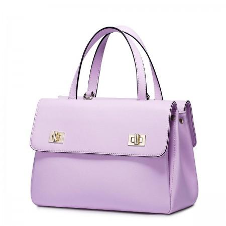 Poslovna usnjena vijolična torbica