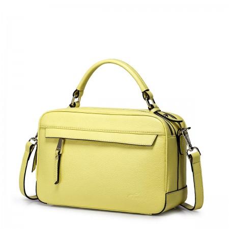 Nucelle usnjena torbica rumena