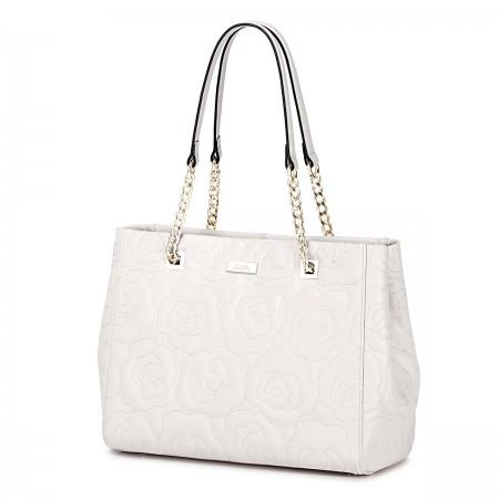 Usnjena dizajnerska torbica bež