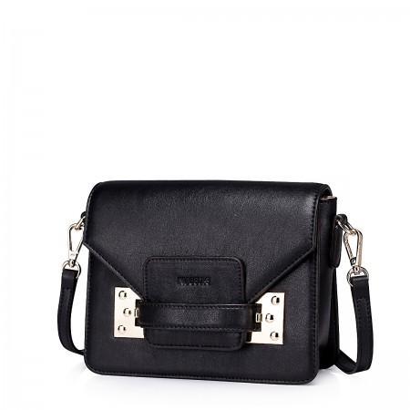 Mini usnjena torbica Candy črna