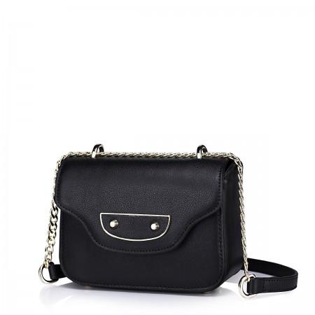Elegantna mini usnjena torbica črna