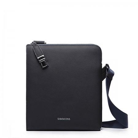 Moderna usnjena torba modra