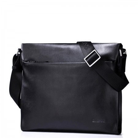 Usnjena moška torba črna 190219-01