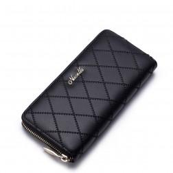 Modna denarnica z zadrgo črna