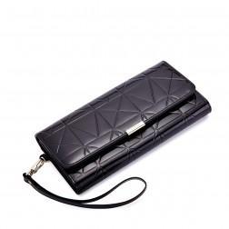 Ženska lak denarnica črna