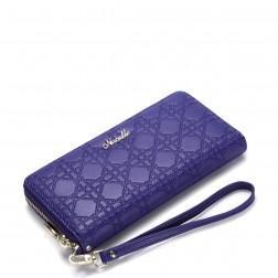 Modna vzorčasta denarnica purpur