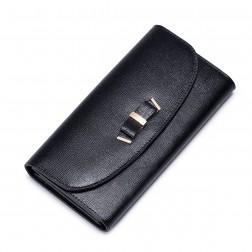 Usnjena denarnica Maša črna