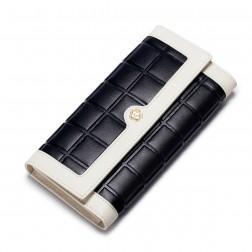 Dvobarvna usnjena denarnica črna