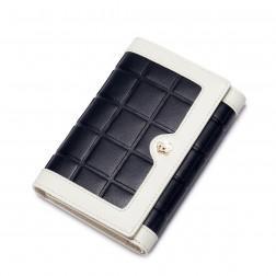 Usnjena denarnica srednja črna