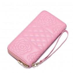 Dizajnerska usnjena denarnica roza