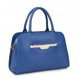 NUCELLE Ženska torbica iz pravega usnja modra