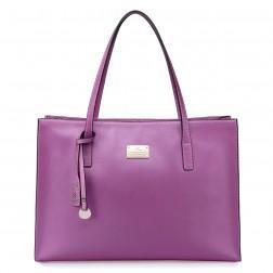 Ženska torba iz pravega usnja pink