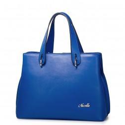 Modra elegantna torbica
