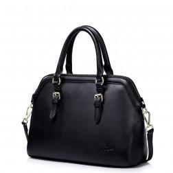 Usnjena torbica Purple