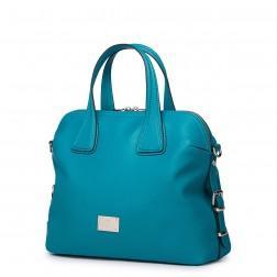 Usnjena torbica Luxury modra