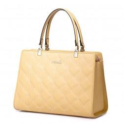 Usnjena elegantna torbica bež 1170609-21