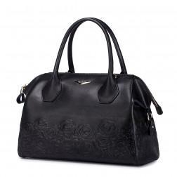 Črna usnjena torbica 1170621-01