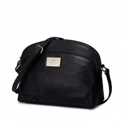 Usnjena dekliška črna torbica