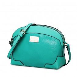 Usnjena dekliška zelena torbica