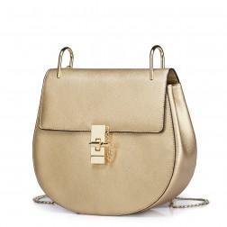 Usnjena torbica Elegance zlata