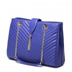 Kakovostna elegantna usnjena torbica vijolična