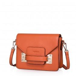 Mini usnjena torbica Candy oranžna