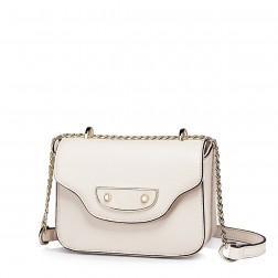 Elegantna mini usnjena torbica bež
