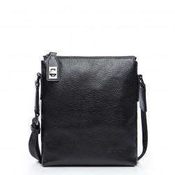 Moška usnjena torbica črna