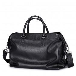 Usnjena torba Agents črna