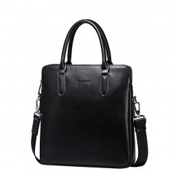 Usnjena črna poslovna torba mala
