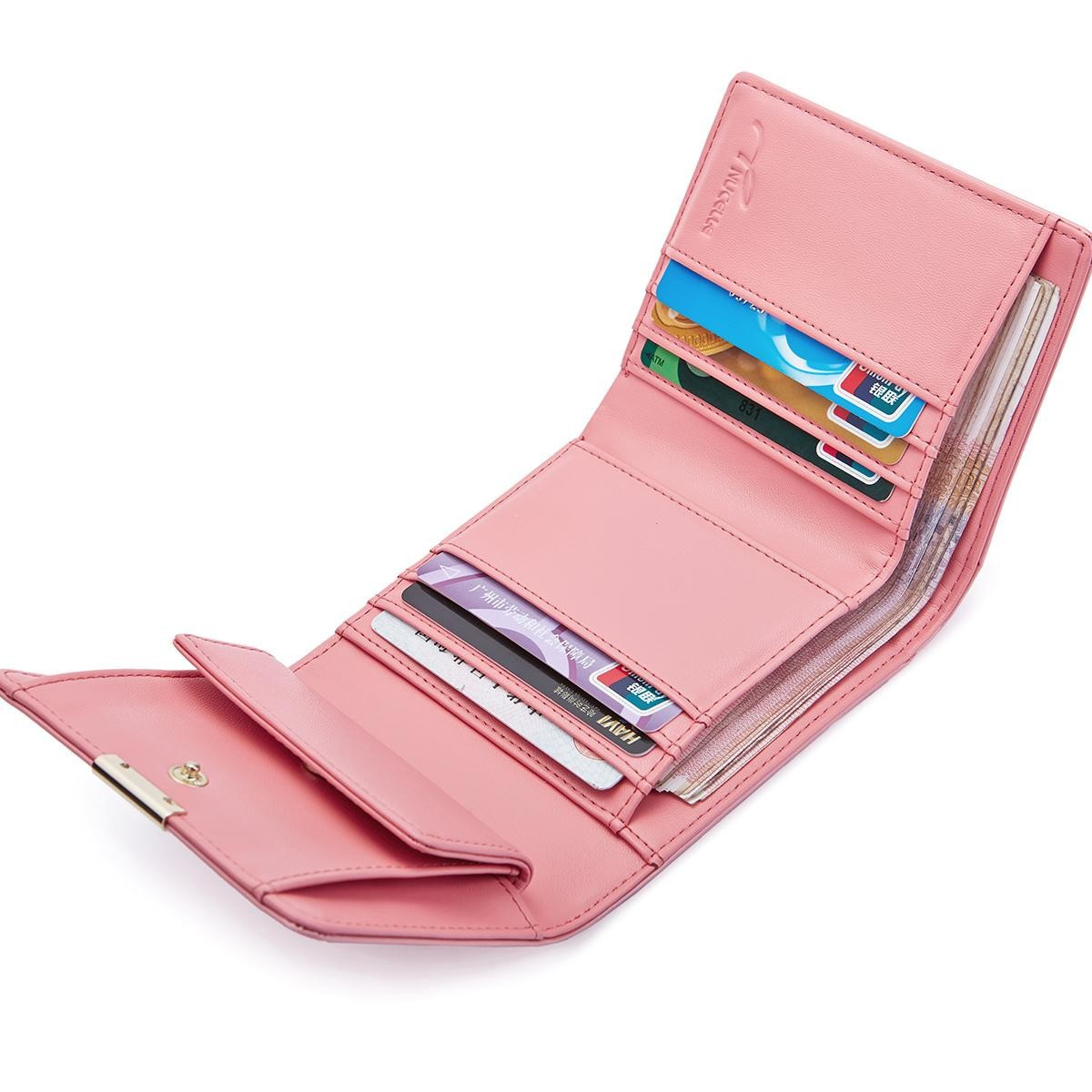 petit portefeuille femme rose zzuza