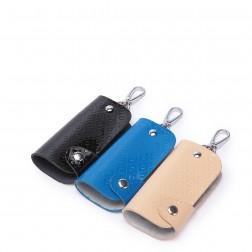Etui portefeuille porte clés bleu
