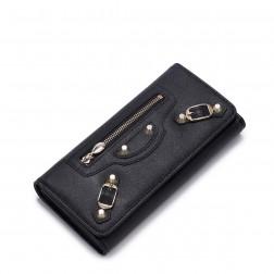 Portefeuille Fashion Zip noir