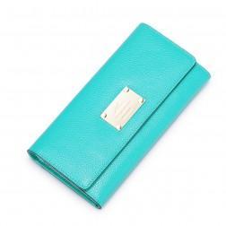Porte feuille en cuir bleu