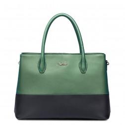 Shopper bicolore vert/noir