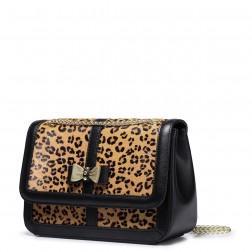 Petit sac en bandoulière imprimé léopard